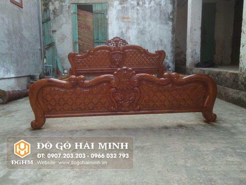 Giường gỗ Lim Nam Phi GIU8501