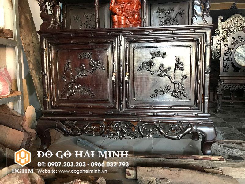 Tủ bày đồ gỗ gụ TUG1501