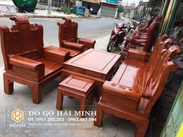 Bố ghế tần thủy hoàng gỗ Hương SAL2601