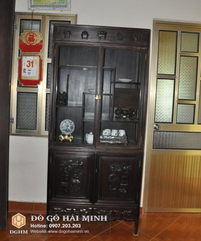 Tủ bày đồ gỗ gụ TUK6501