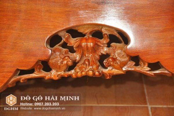 Sập mặt 1 lá gỗ Hương SAP6501