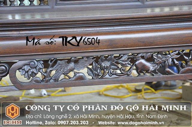 Trường kỷ song tiện gỗ gụ TKY6504