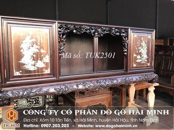 Tủ chè gỗ gụ khảm ốc TUK2501