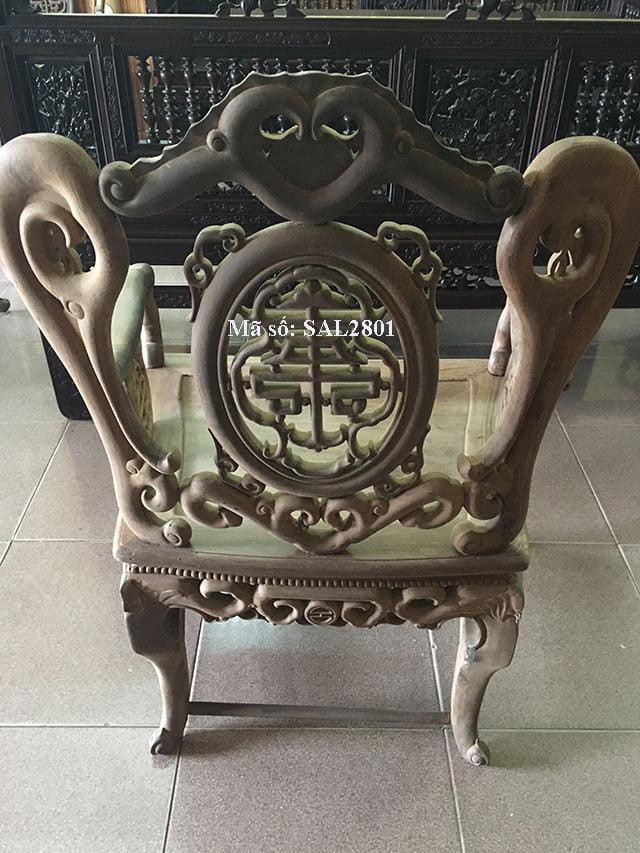 Bộ Salong Dơi Thọ gỗ gụ SAL2801