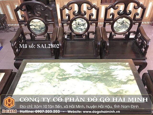Bộ salong móc gỗ gụ SAL2802