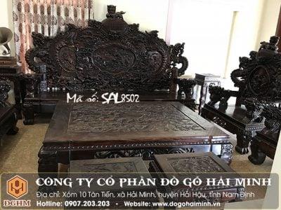 Bộ ghế rồng đỉnh nghê gỗ Trắc SAL8502