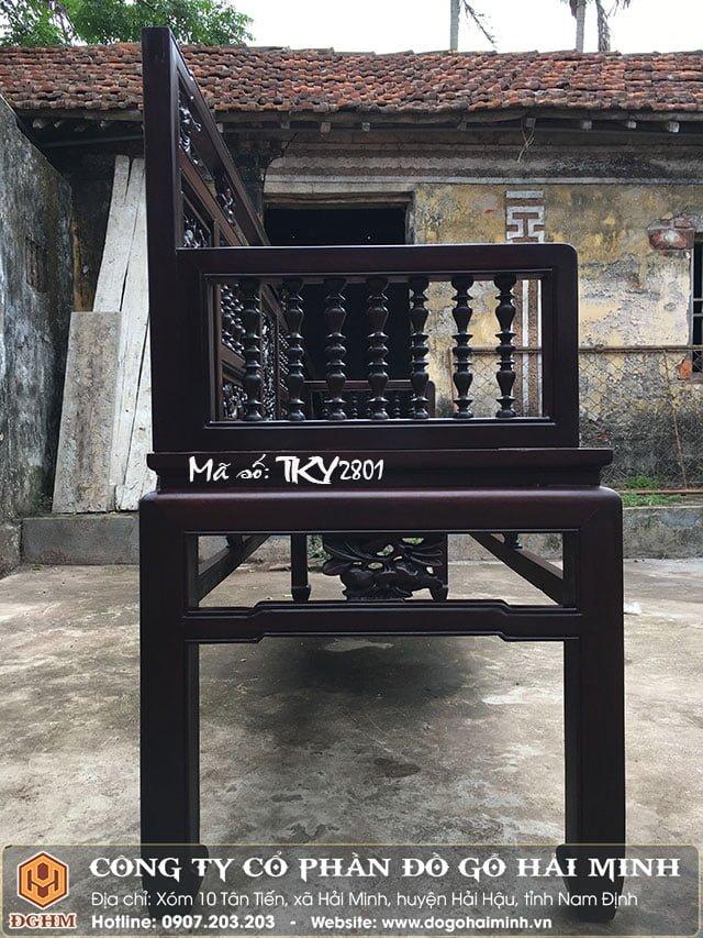 Trường kỷ song tiện gỗ gụ TKY2801