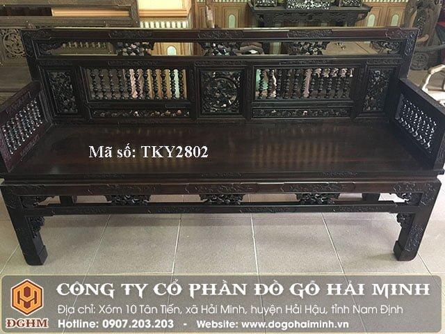 Trường kỷ song tiện gỗ gụ TKY2802