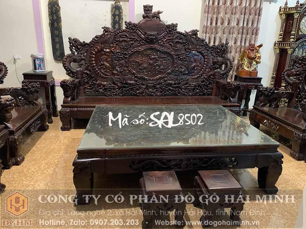 bộ ghế đỉnh gỗ trắc 12 món đẹp