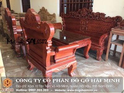 Bộ bàn ghế hoàng gia gỗ hương SAL6502