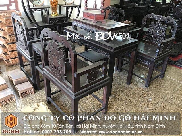 Bộ bàn ghế vách BOV0501