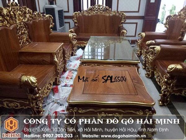 Bộ ghế Hoàng gia thiếp vàng SAL6504