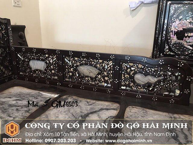 Giường tam sơn khảm ốc tứ diện GIU6503