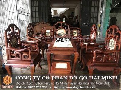 Bộ Salong móc gỗ gụ SAL1801