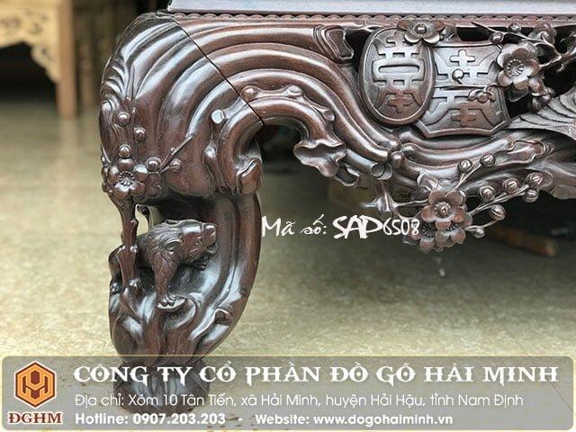 Sập mai điểu gỗ gụ SAP6508