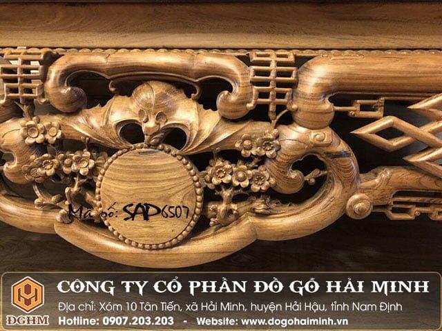 Sập ngũ phúc gỗ gụ SAP6507