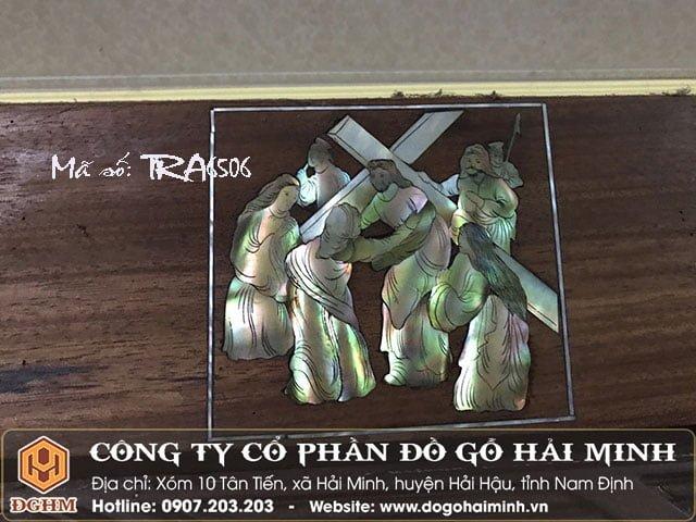 Tranh bữa tiệc ly gỗ gụ TRA6506
