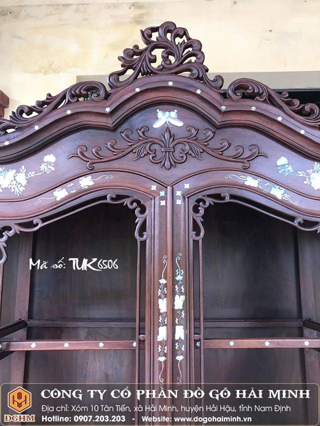 Tủ bày đồ Louis khảm ốc TUK6506