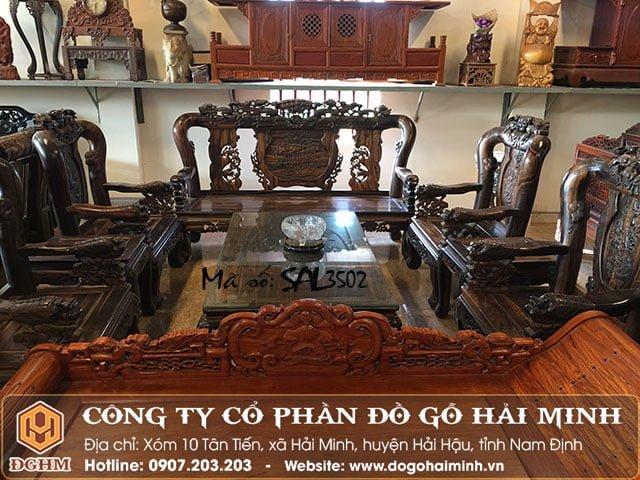Bộ ghế Salong minh quốc gỗ mun SAL3502