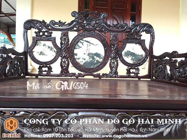 Giường ba thành gỗ gụ GIU6504