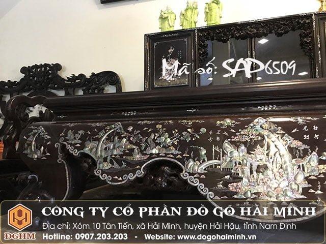 Sập gỗ khảm liên chi SAP6509