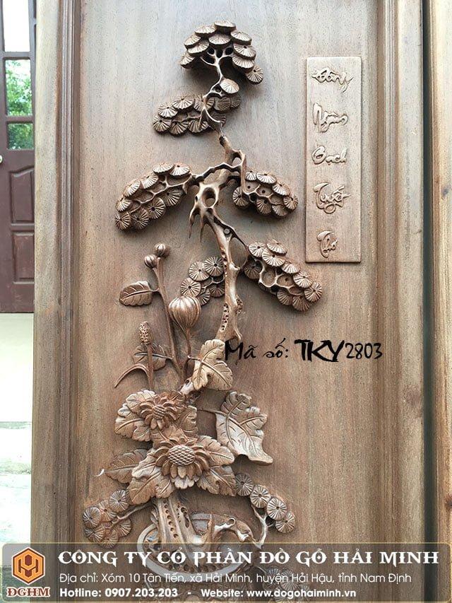Tranh tứ bình gỗ gụ TRA2803
