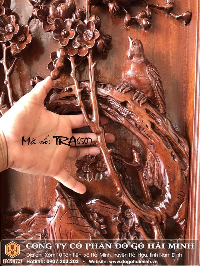 Tranh tứ quý gỗ gụ TRA6507