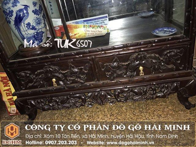 Tủ bày đồ gỗ gụ TUK6507
