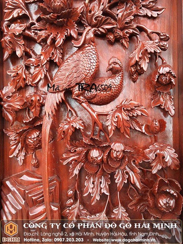 Tranh tứ quý gỗ Hương TRA2809