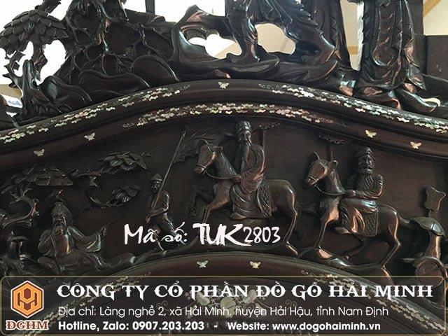 Tủ chùa gỗ gụ khảm ốc TUK2803