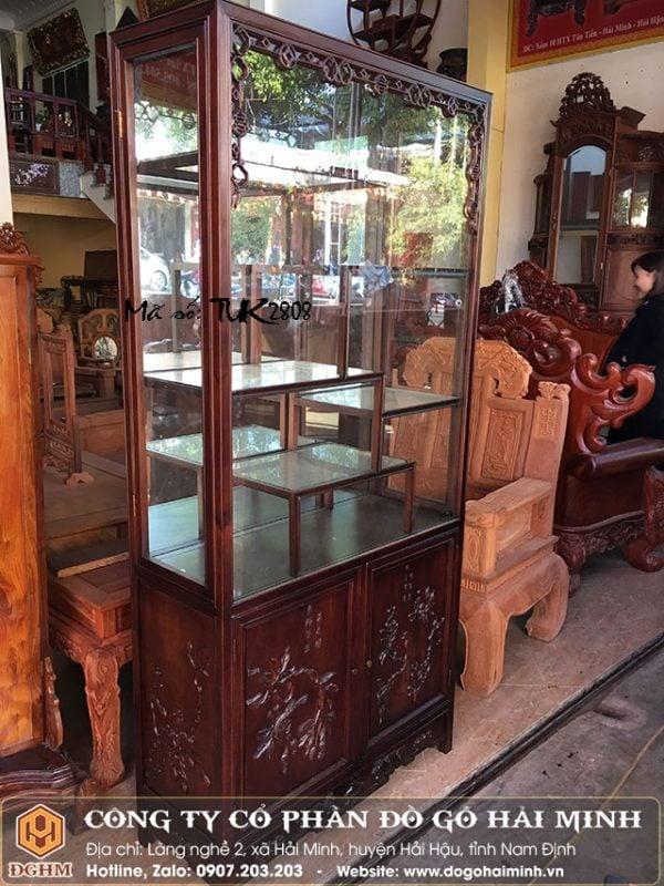 Tủ bày đồ gỗ gụ