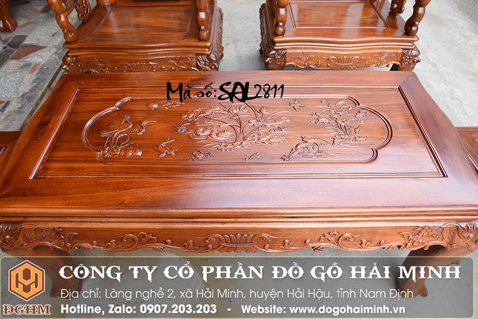 bộ bàn ghế minh quốc đào gỗ gụ - bàn bộ minh quốc đào