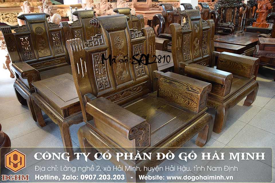 ghế như ý tay hộp gỗ mun