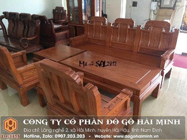 bộ bàn ghế như ý voi tay thẻ bài gỗ hương