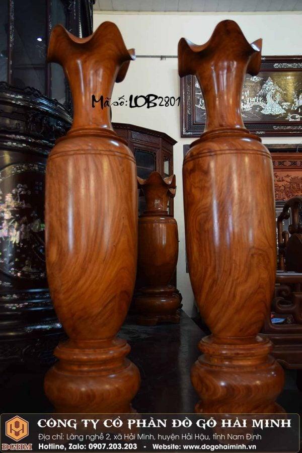 cặp lộc bình gỗ hương 1m27
