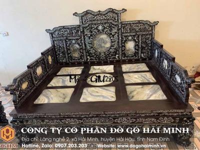 giường tam sơn 3 thành khảm ốc