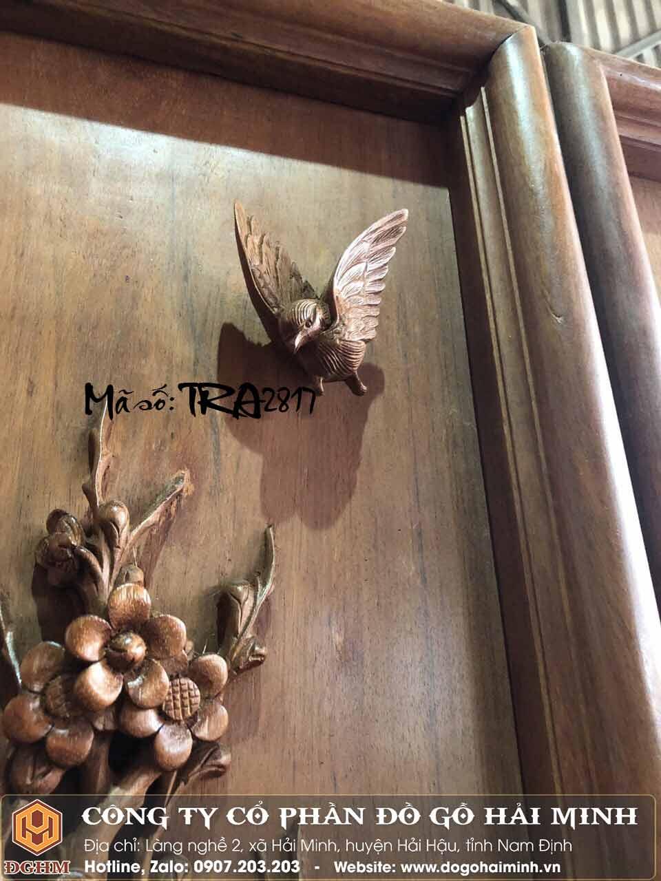 tranh gỗ tứ quý đẹp