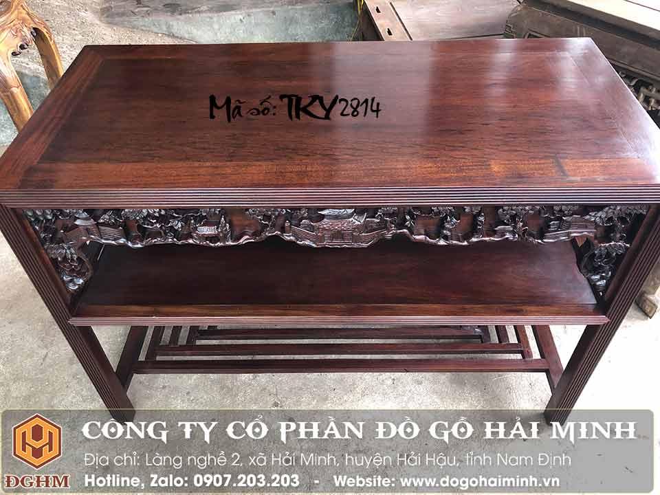 bàn trường kỷ gỗ gụ