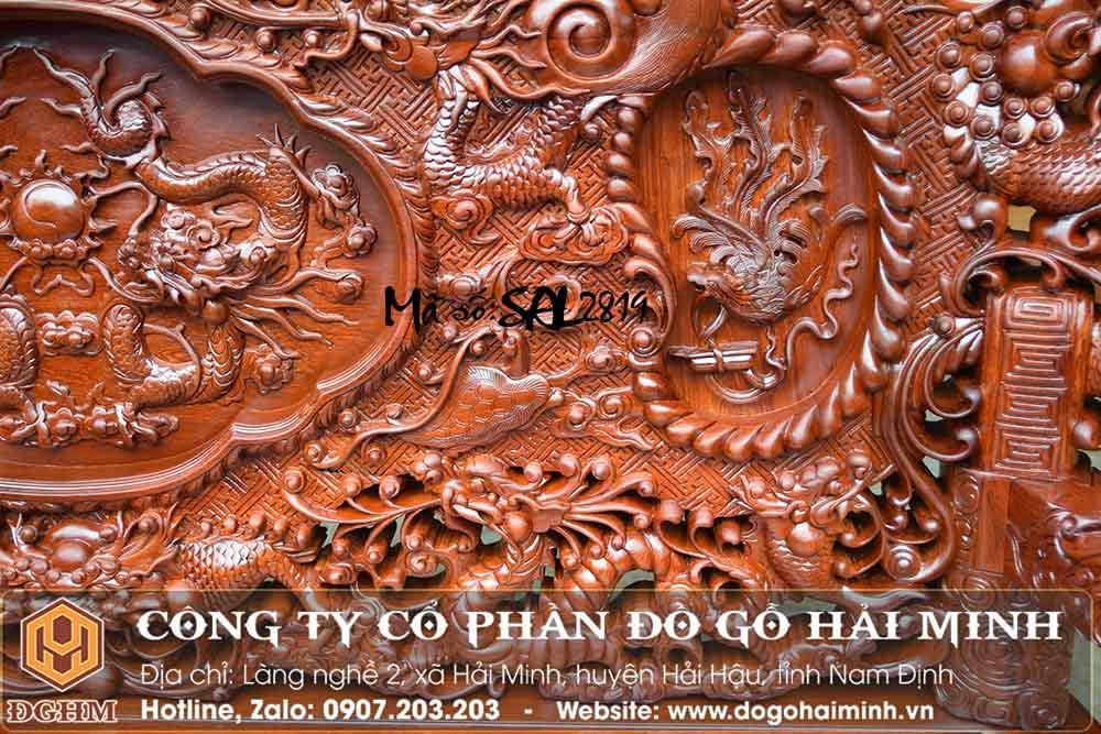 bàn ghế đục rồng gỗ hương lào
