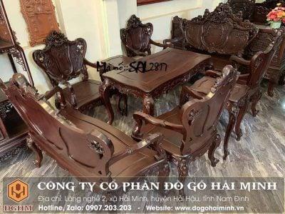 bộ bàn ghế louis kiểu pháp 3 buồng