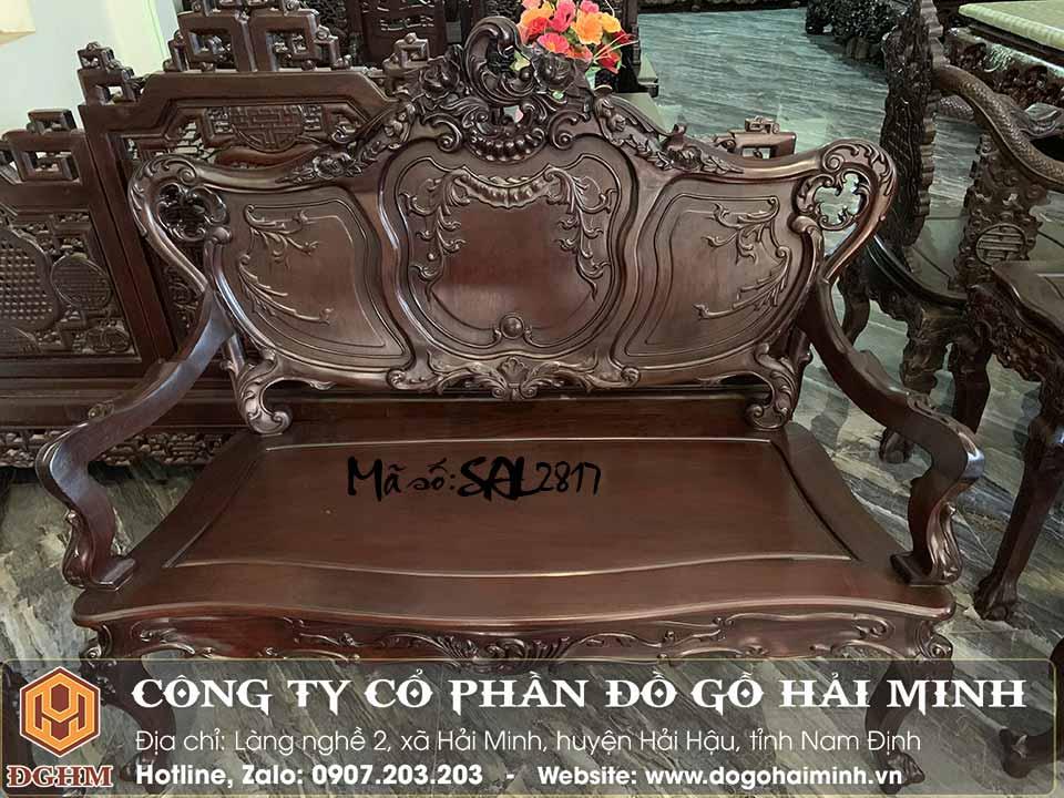 ghế dài louis kiểu pháp 3 buồng