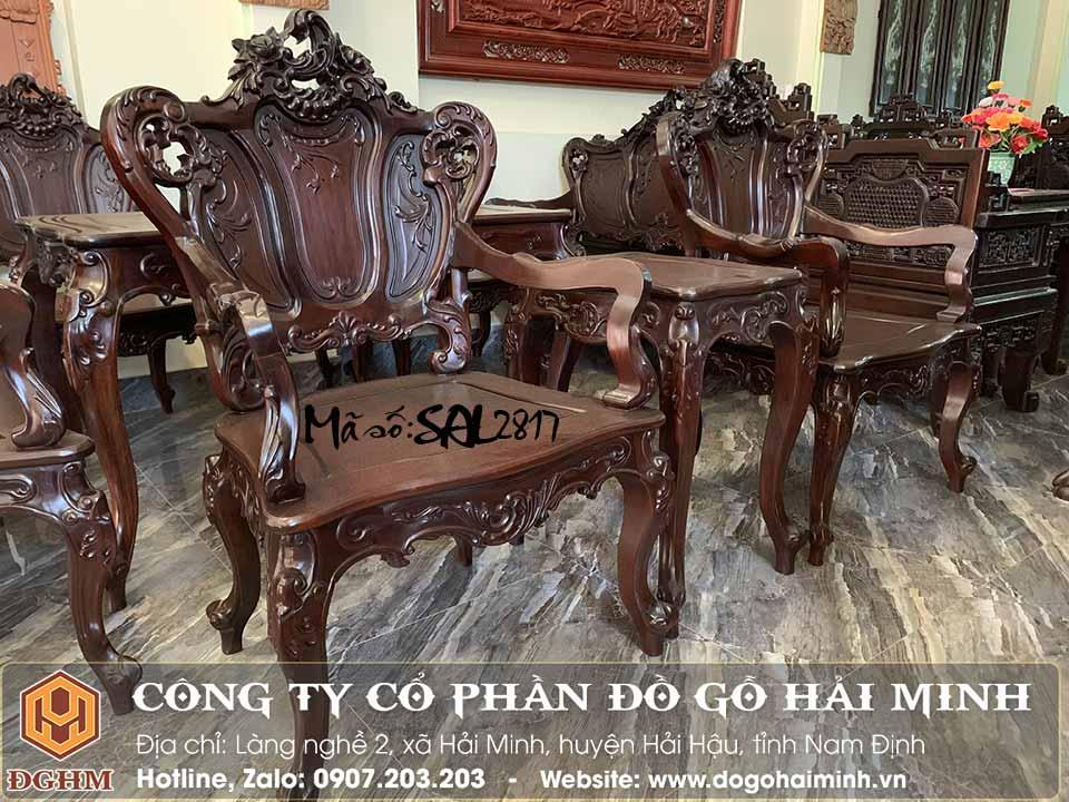 mẫu bàn ghế louis