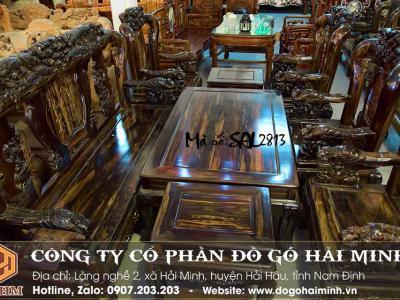 bộ bàn ghế minh quốc chim trĩ gỗ mun