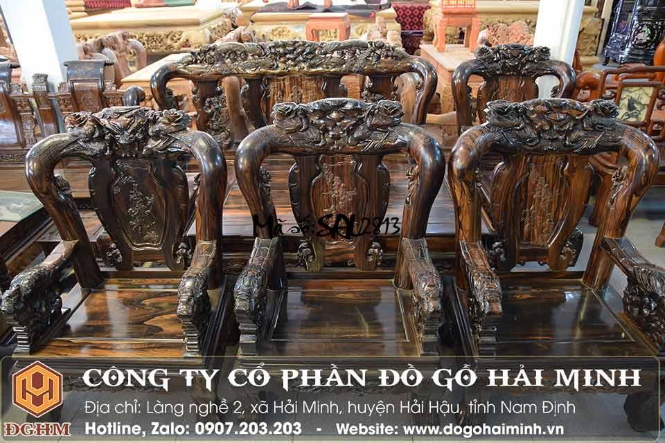 bàn ghế minh quốc gỗ mun 10 món