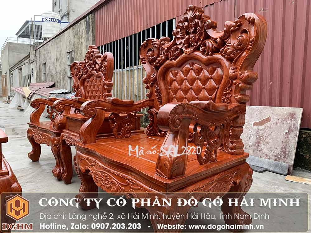 bộ louis hoàng gia gỗ hương đá 6 món