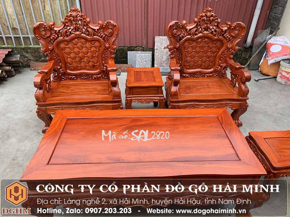 bàn ghế louis gỗ hương