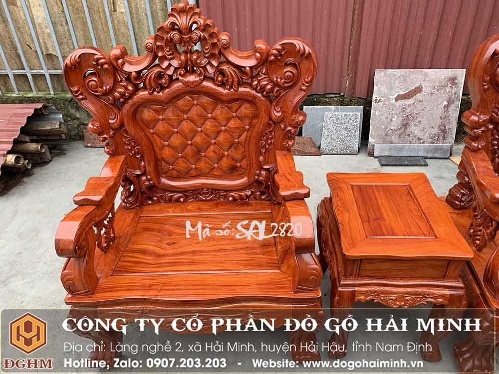 bàn ghế louis gỗ hương đá vân cực chất