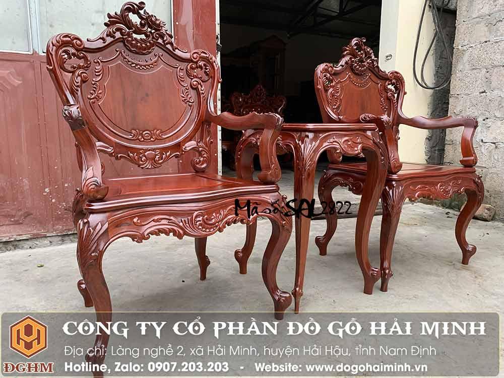 ghế louis gỗ cẩm