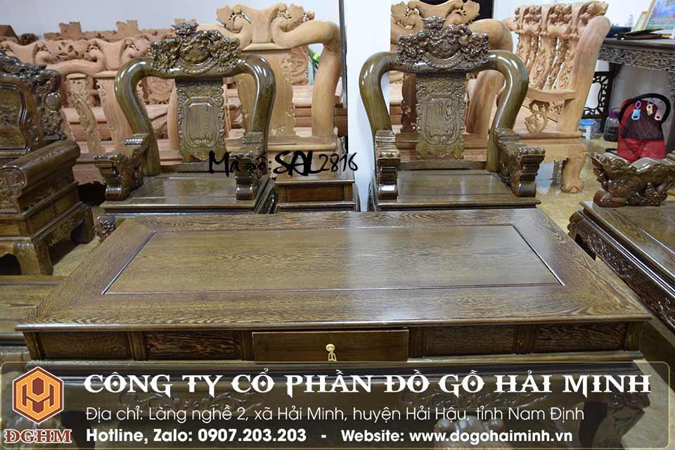 bộ ghế nghê đỉnh rồng gỗ mun