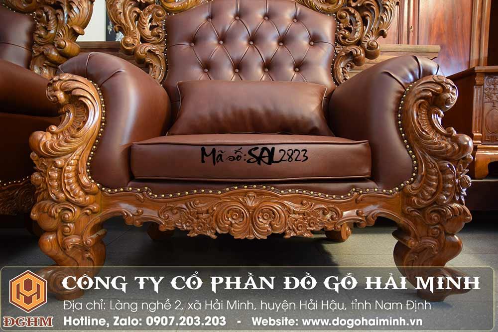 ghế sofa hoàng gia bọc đệm